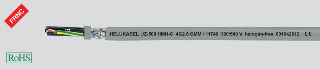 гибкий кабель управления, без галогенов, негорящий, маслостойкий, 0,6/1кВ, экранированный, с маркировкой метража