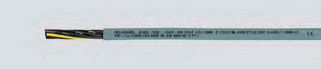 Кабель управления, соответствующий трем нормативам