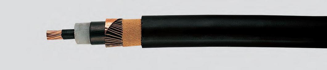 6/10 кВ, 12/20 кВ, 18/30 кВ изолирован СПЭ Медный провод, одножильный, экранированный, продольно водонепроницаемый, в оболочке из ПЭ
