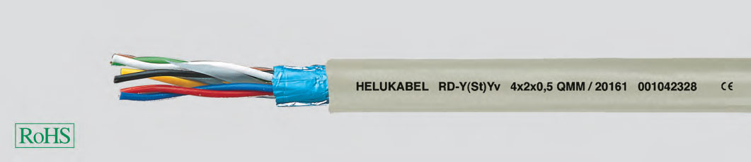Кабель для техники управления, может использоваться для подключений Maxi-Termi-Point, внешняя оболочка усилена
