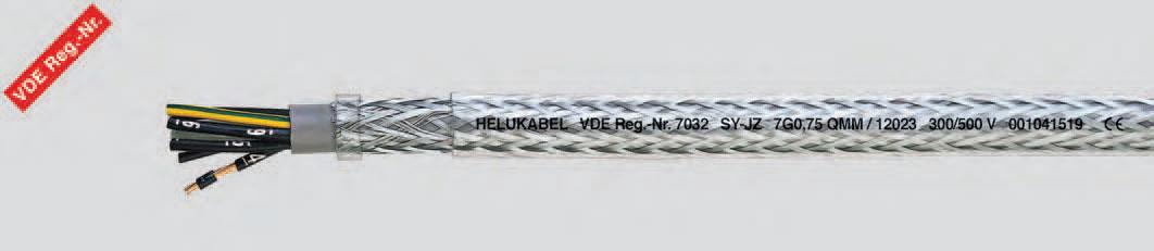 Гибкий кабель с цифровой маркировкой жил, со стальной оплеткой