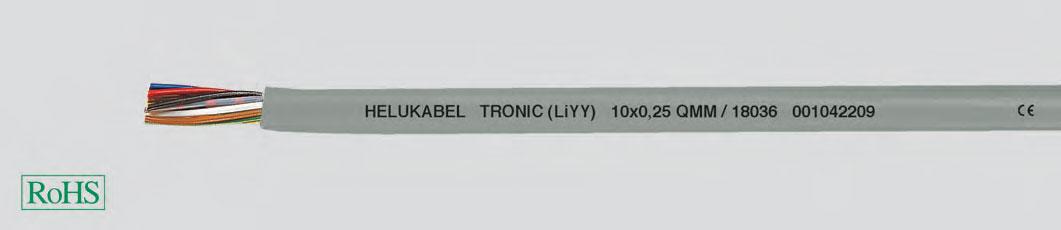 гибкие кабели с цветовой маркировкой жил по DIN 47100 (LiY-витая многопроволочная жила, ПВХ-изоляция жил, ПВХ-оболочка)