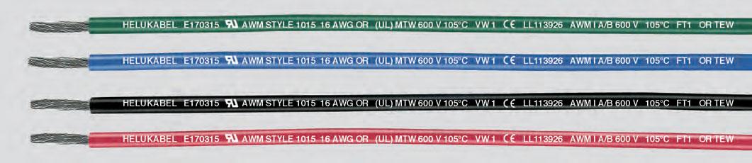 Отдельные ПВХ-жилы, сертифицированы UL/CSA